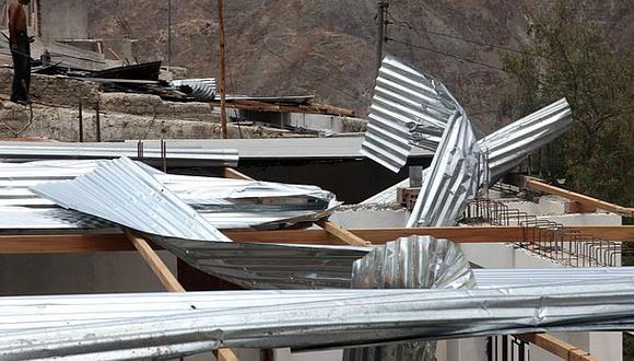Moquegua: Fuertes vientos dejaron al menos 50 afectados
