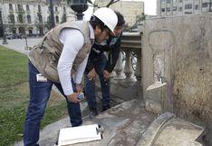 Cercado de Lima: delincuentes roban piezas de mármol en Paseo de los Héroes Navales