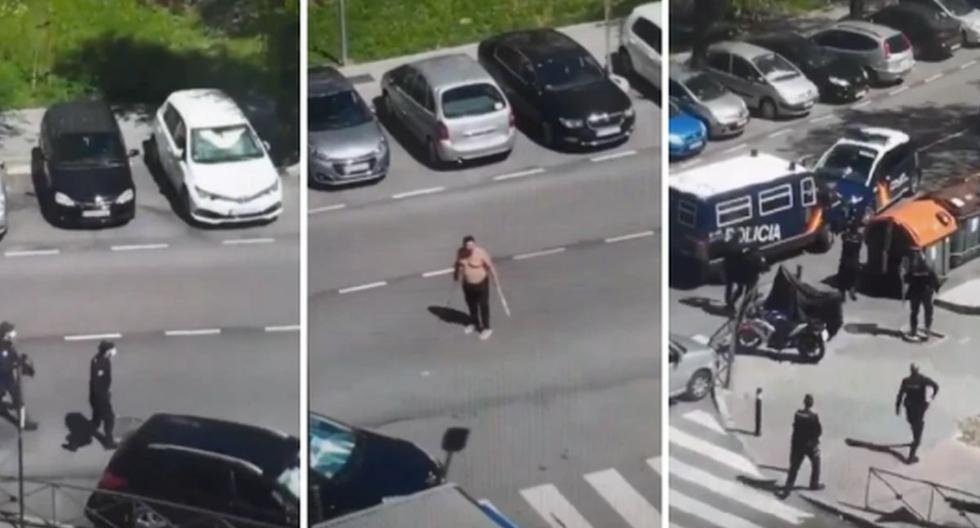 Un sujeto con coronavirus fugó de un hospital y atacó a la policía. (Foto: Captura de pantalla)