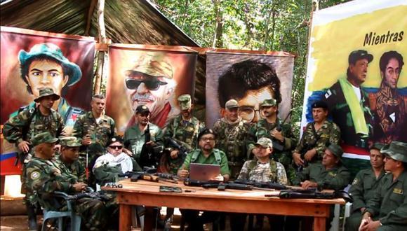 Los exjefes guerrilleros de las Farc que anunciaron su rearme aparecieron en un nuevo video. Foto: Captura video