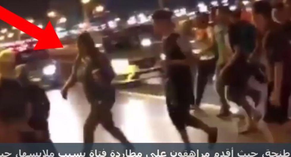 Acoso sexual contra una mujer en Marruecos. (Captura de TV: YouTube)