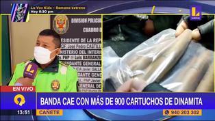 Delincuencia en Perú: Banda criminal cae con más de 900 cartuchos de dinamita