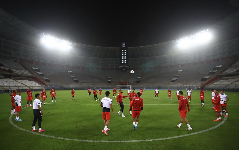 La selección peruana entrenó en el Estadio Nacional previo al partido frente a Colombia | Foto: Selección peruana