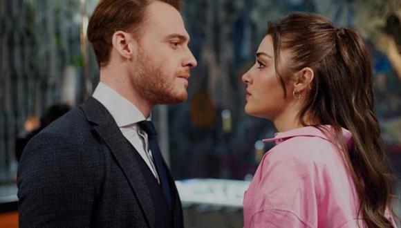 """Kerem Bürsin y Hande Erçel son los protagonistas de """"Love Is in the Air"""" (Foto: MF Yapim)"""