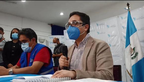 La funcionaria  María Consuelo Porras fue blanco de críticas, tras acusaciones de falta de apoyo a la labor de  Juan Francisco Sandoval (Derecha) en la FECI. (Foto: Captura de video).