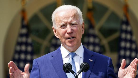 El presidente de Estados Unidos, Joe Biden, habla mientras anuncia acciones ejecutivas sobre la prevención de la violencia armada en el Rose Garden de la Casa Blanca en Washington, Estados Unidos. (Foto: REUTERS / Kevin Lamarque).