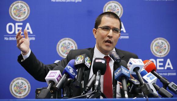 OEA | Venezuela: Qué falta para que el país sea suspendido de la Organización de Estados Americanos. En la imagen, el canciller venezolano Jorge Arreaza. (AFP).