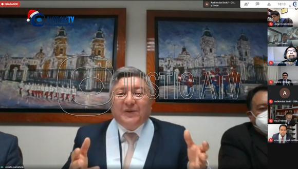 Mateo Castañeda, abogado de José Luna Gálvez, aseguró que no conocía a la fiscal Flor Erazo. (Imagen: Justicia TV)