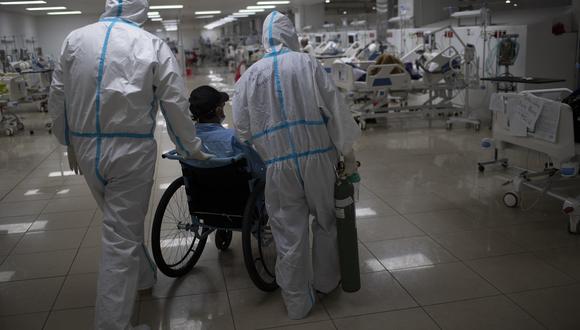 Área de atención a pacientes COVID-19 en un hospital de El Salvador. (Foto: Yuri CORTEZ / AFP)