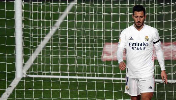 Eden Hazard sufrió una lesión muscular, confirmó Real Madrid. (Foto: AFP)