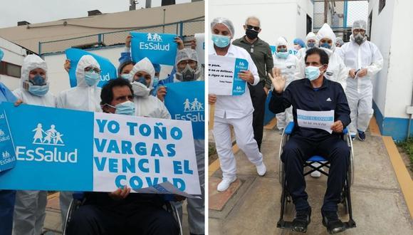 Toño Vargas logró recuperarse del coronavirus y ahora iniciará su rehabilitación. (Foto: Twitter @EsSaludPeru).