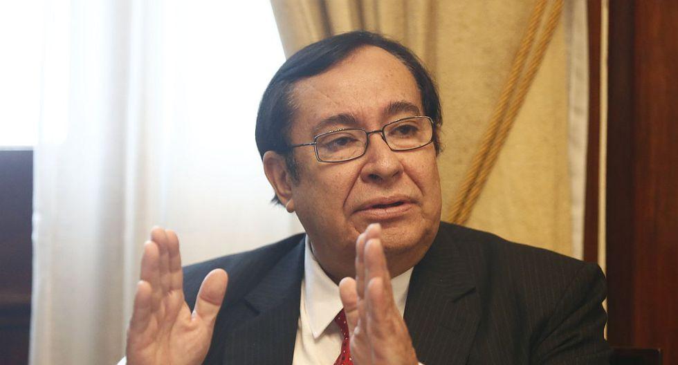El presidente del Poder Judicial, Víctor Prado, habló sobre el proyecto de ley que presentó ante el Congreso para que la Corte Suprema pueda separar magistrados. (Foto: USI)