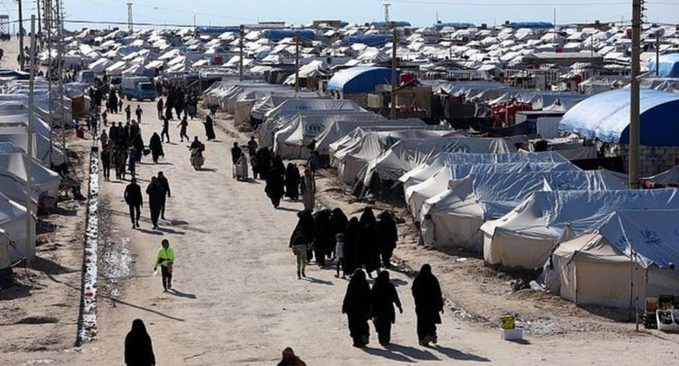 Familiares y dependientes de los combatientes de Estado Islámico están concentrados en el centro de detención de al Hawl, en el norte de Siria. (Archivo / Reuters)