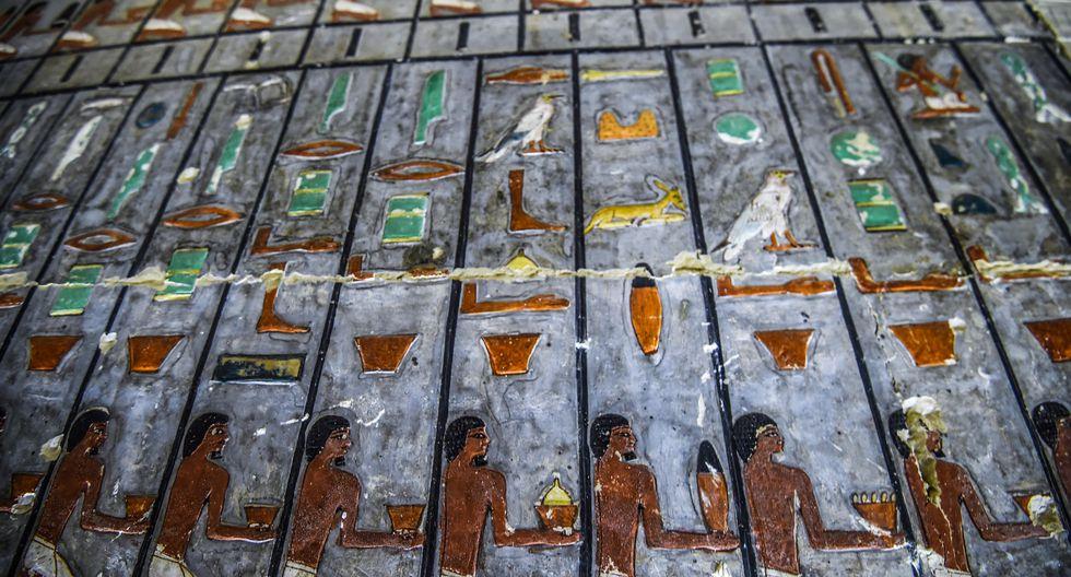 Egipto desvela llamativa tumba de la V dinastía. Foto. AFP