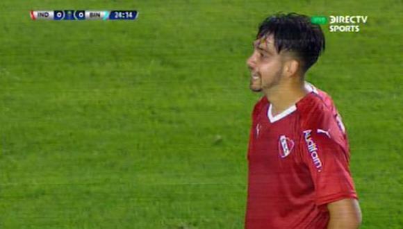 Independiente vs. Binacional: argentinos estuvieron cerca del 1-0 con dos remates al palo   Foto: Captura