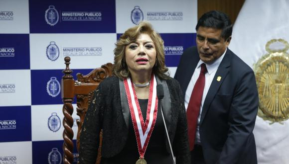 Fiscal de la Nación, Zoraida Ávalos respondió al presidente de la Subcomisión de Acusaciones Constitucionales, César Segura. (Foto. GEC)