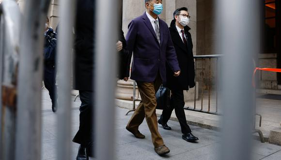 En Hong Kong, Jimmy Lai llega la Corte de Apelaciones Finales, para escuchar la apelación del Departamento de Justicia, que se opone a su libertad bajo fianza. REUTERS