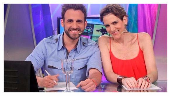 Rodrigo González y Gigi Mitre se reencuentran tras varios meses separados por la cuarentena. (Captura: Latina).