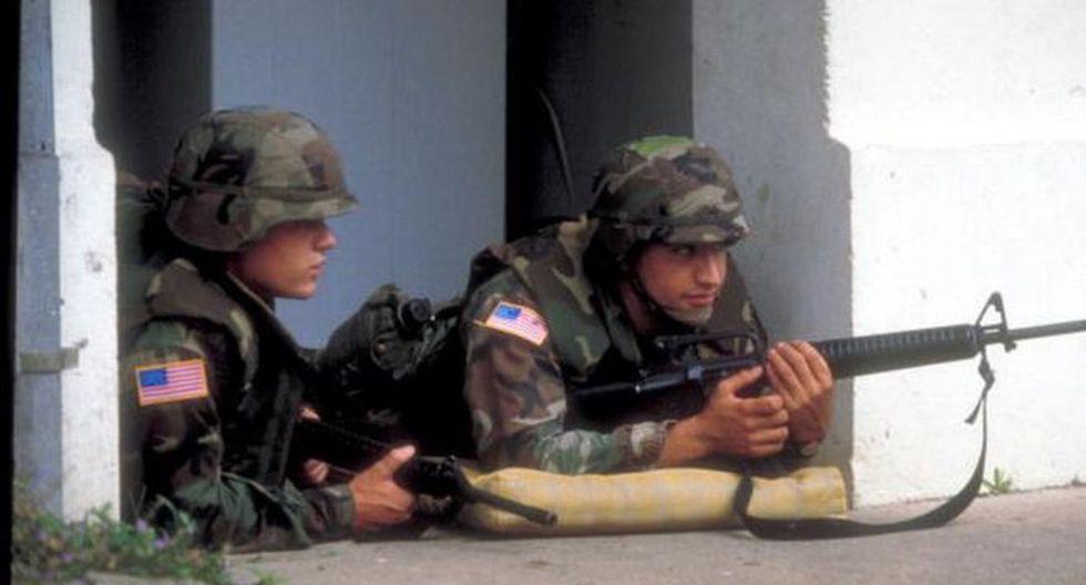 En 1989 el ejército de Estados Unidos invadió Panamá para capturar al general Manuel Antonio Noriega. (Getty Images vía BBC)