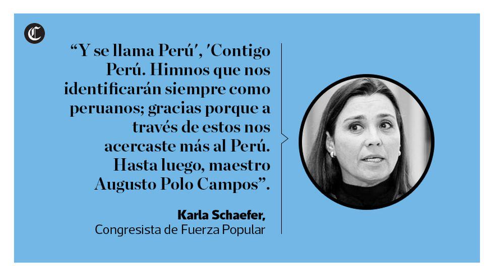 Con emotivas frases y recordando letras de sus canciones, los políticos peruanos se despidieron de Augusto Polo Campos, ícono de la música peruana que falleció el 17 de enero. (El Comercio)