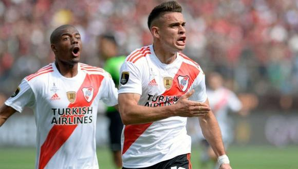 Rafael Santos Borré jugará en Eintracht Frankfurt, tras su paso por River Plate. (Foto: AFP)