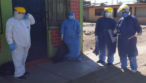 Cinco Equipos de Respuesta Rápida de la Red de Salud de Ica salieron en busca de posibles casos de coronavirus casa por casa. (Foto: Red de Salud de Ica)