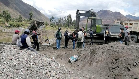 Cusco: Caen 10 personas por minería ilegal no metálica e incautan equipos por 2 millones de soles (Foto: Juan Sequeiros)
