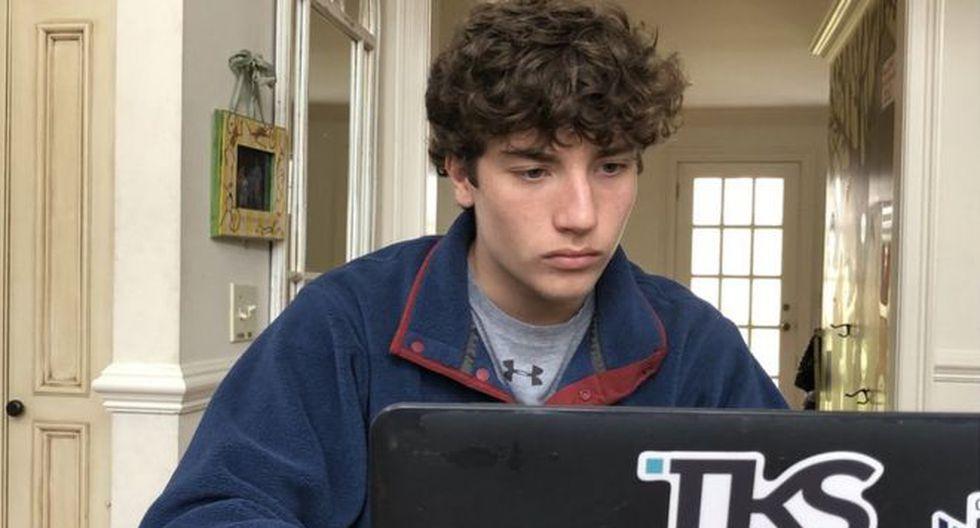 Jack McDonald pasa hasta 20 horas a la semana en sus estudios de tecnología. (Foto: McDonald Family)