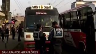 San Juan de Miraflores: combi atropella fiscalizador durante operativo