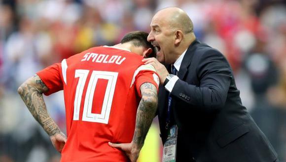 Cherchesov y Smolov. (Foto: Reuters)