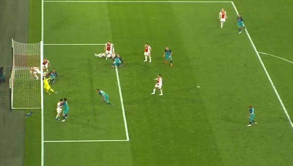 Ajax vs. Tottenham: Vertonghen tuvo el gol de la clasificación pero erró de manera increíble en la Champions League. (Foto: captura)