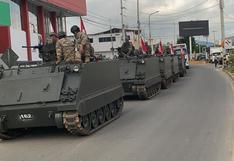 Coronavirus en Perú: vehículos blindados vigilan la frontera en Tumbes   VIDEO