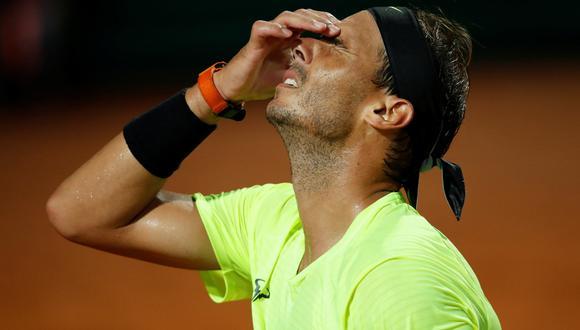 Rafael Nadal cayó eliminado en cuartos de final en el Masters 1000 de Roma, tras perder contra Diego Schwartzman | Foto: REUTERS