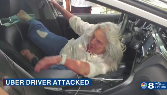 Michele Stilwell atacó a conductor de Uber  en la ciudad de St. Petersburg, condado Pinellas, en la costa oeste de Florida (Estados Unidos). (Captura de video/WFLA).