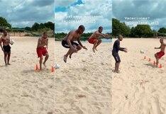 Sergio Peña y Miguel Araujo se olvidaron de las vacaciones y entrenaron en la arena por su cuenta | VIDEO