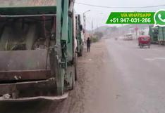 WhatsApp: usan vía pública para estacionar camiones (VIDEO)