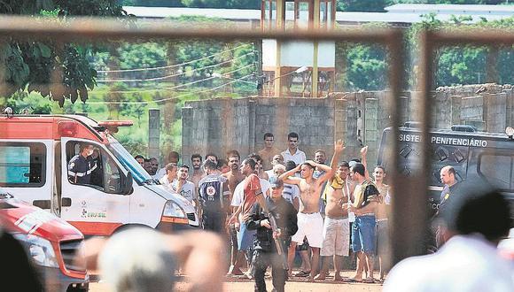 """La Secretaría de Administración Penitenciara (SAP) de Sao Paulo informó en un comunicado que estaban en curso """"actos de insubordinación"""" en al menos cuatro centros de detención de régimen semiabierto; sin embargo, los reclusos decidieron fugarse. (AFP/Refrencial)."""