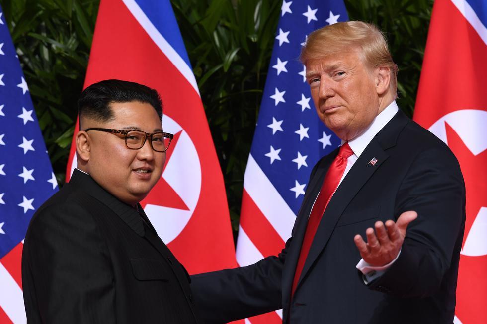 La cumbre de Singapur: El 2018, fue testigo de la histórica reunión entre los líderes de Corea del Norte, Kim Jong-un, y de los Estados Unidos, Donald Trump. (AFP).