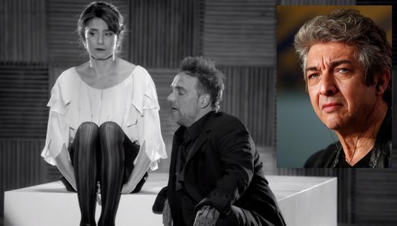 """Valeria Bertuccelli y Vicentico cantaron juntos el tema """"No te apartes de mí"""". Ricardo Darín es acusado de maltratar a la actriz. (Imagen: YouTube)"""