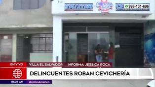 VES: Malhechores roban cevichería y se llevan artículos valorizados en 18.000 soles