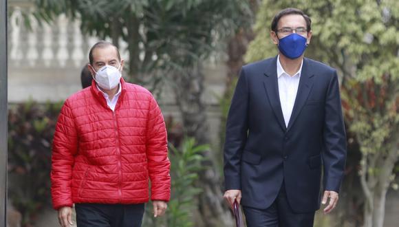 """""""Yo descarto totalmente que el señor presidente (Martín Vizcarra) esté buscando una inmunidad a través del Congreso"""", exclamó Walter Martos (Foto: Miguel Bellido / @photo.gec)"""