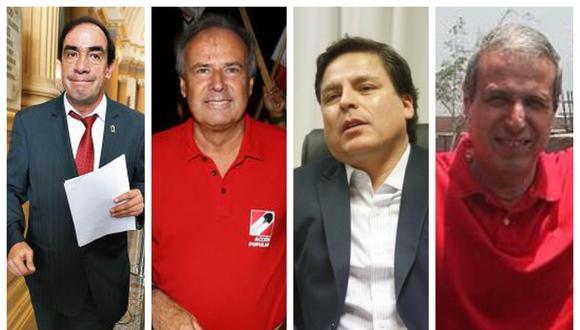 Yonhy Lescano, Alfredo Barnechea, Edmundo del Águila y Luis Enrique Gálvez competirán por ser elegidos como el candidato presidencial de Acción Popular.