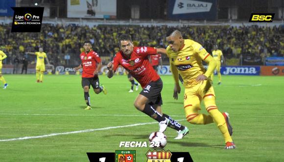 Barcelona igualó 1-1 frente a Deportivo Cuenca por la fecha 24 de la Serie A de Ecuador   Foto: Barcelona