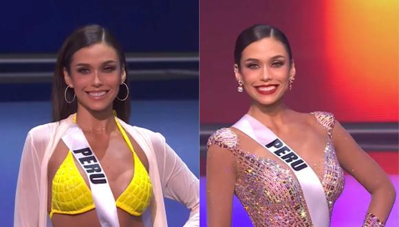 Janick Maceta, Miss Perú, en traje de baño y en vestido de gala durante la competencia preliminar del Miss Universo. (Foto: Captura YouTube)