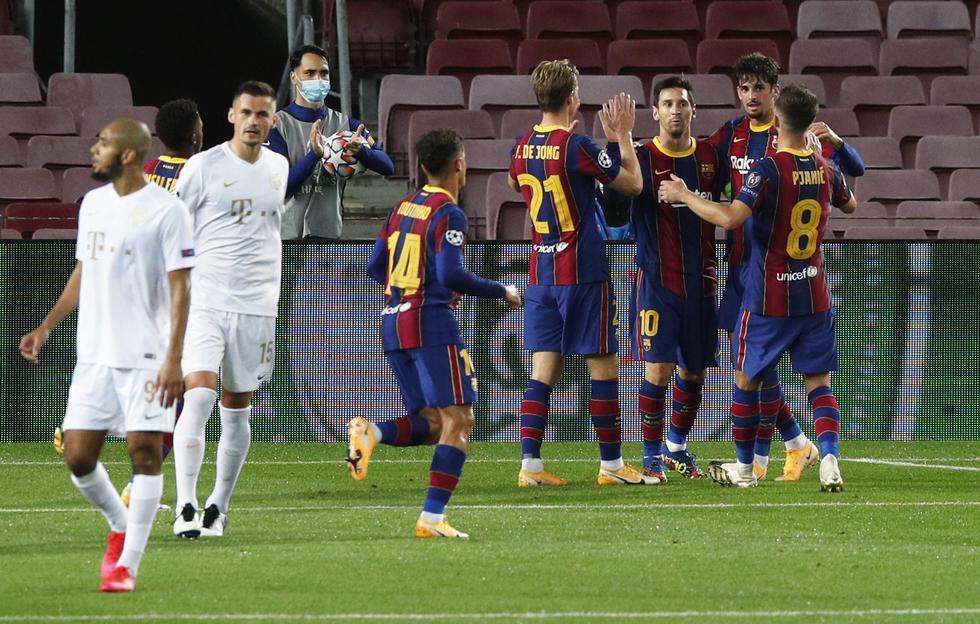 Barcelona enfrentó al Ferencvaros por la Champions League | Foto: AP/AFP/EFE