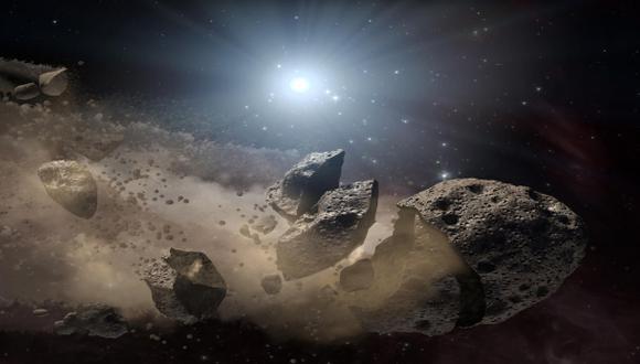 La imagen recrea la explosión de un asteroide que mucho tiempo atrás pudo causar la extinción de los dinosaurios en la Tierra (Foto: NASA)