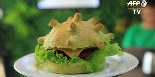 Coronavirus: la 'coronaburger' es la estrella de un restaurante en Vietnam