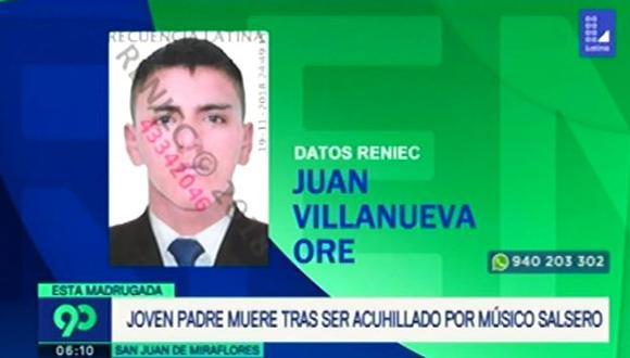 Juan Villanueva Oré, de 24 años, fue apuñalado hasta en cinco oportunidades en el pecho. Familiares acusan a un sujeto que integra una orquesta de salsa.