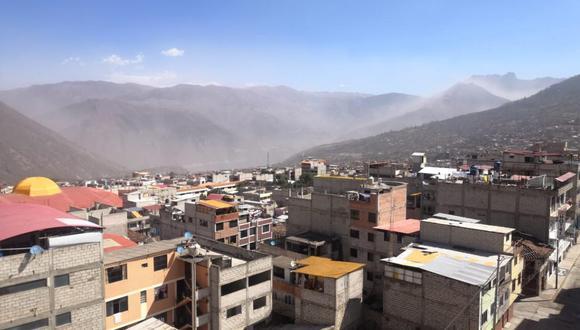 La polvareda que se observa en la ciudad de Abancay (Apurímac) ha generado preocupación y afectación en varias zonas de la provincia. (Foto: Carlos Peña)