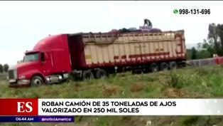 Panamericana Sur: roban camión con 35 toneladas de ajos valorizado en 250 mil soles